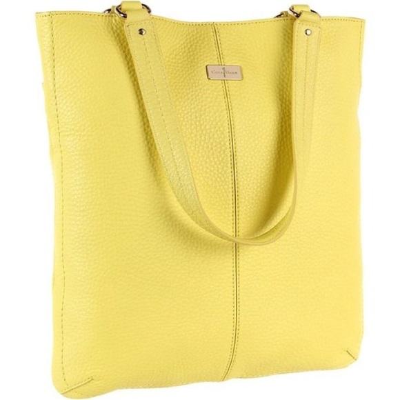 d4c79b53b2 Cole Haan Handbags - Cole Haan Leather Village Flat Tote Yellow